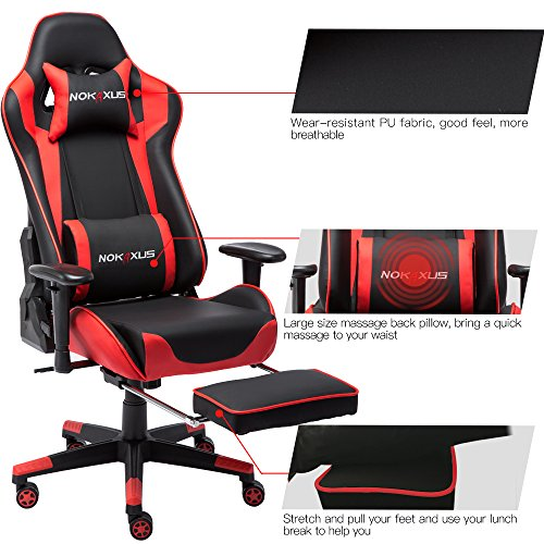 Nokaxus Gaming Chair Large Size High Back Ergonomic Racing