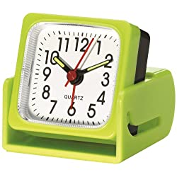 Travel Smart Travel Alarm Clock Lime