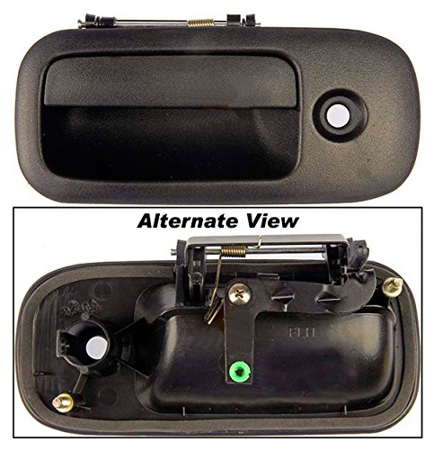 APDTY 80431 Exterior Door Handle Front Left (Driver) 2003-2009 Chevy Express/GMC Savana Vans 1500/2500/3500 Series Replaces OEM # 10359094,25866267,25942271 Textured Black With Keyhole