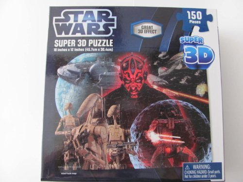 Star Wars Super 3D Puzzle Darth Maul 150 Pieces for sale  Delivered anywhere in USA
