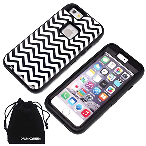 IPhone 6S Plus Case, DRUnKQUEEn Shell Shockproof Scratch Proof Shock Proof Glass Dustproof Resistant Armor Protection Cover for iPhone6 Plus / iPhone6S Plus (5.5 Inch)