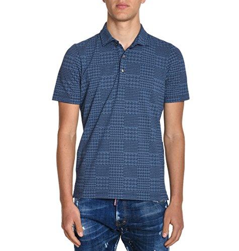 H953 Herren HS108589 Blau Baumwolle Poloshirt