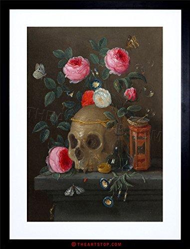 (The Art Stop Painting Van Kessel VANITAS Still Life Study Skull Framed Print F12X3744)