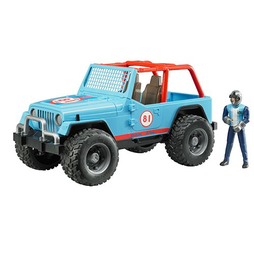 Cross Country Vehicle - Bruder Jeep Cross Country Racer Vehicle with Driver Blue