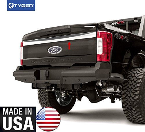 - Made in USA!! TYGER Works With 2017-2018 Ford SuperDuty Upper Tailgate Plain Trim 3 1/4'' 1PC