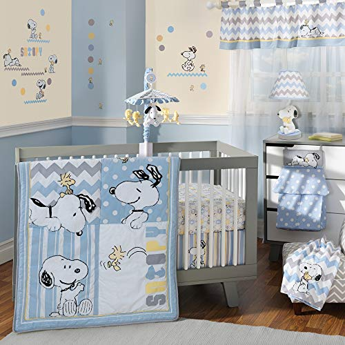 Baby Snoopy Blanket - Lambs & Ivy My Little Snoopy 4 Piece Bedding Set