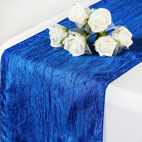 Mikash 5 Pack Taffeta Crinkle Table Runner Wedding Party 20+ Colors to Choose from! | Model WDDNGDCRTN - 19847 |