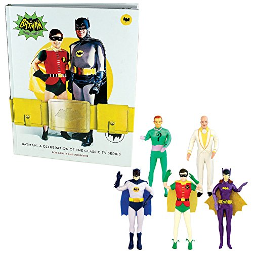 1960's Batman And Robin Costumes ((Set) Batman A Celebration Of The Classic TV Series Book & Bendable Figures)