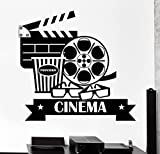 Negativ Wall Decal Cinema Movie House Vinyl Removable Mural Art Decoration Stickers for Home Bedroom Nursery Living Room Kitchen
