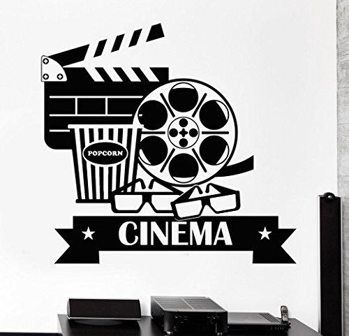 Negativ Wall Decal Cinema Movie House Vinyl Removable Mural Art Decoration Stickers for Home Bedroom Nursery Living Room Kitchen by Negativ