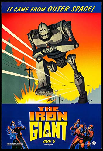 THE IRON GIANT SCIENCE FICTION 1999 DS ADVANCE ORIGINAL ONE SHEET 27X41 MOVIE POSTER NM ROLLED