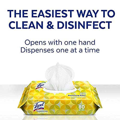 Lysol Handi-Pack Disinfecting Wipes, 320ct (4X80ct), Cool Country Breeze - 5 Pack by Lysol (Image #1)