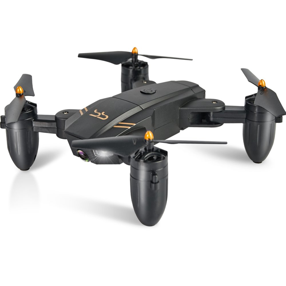 ScharkSpark Drone Guard for Beginners, Drone with Camera Live Video, Portable RC Quadcopter with 2 Batteries, 2.4G 6-Axis Headless Mode Altitude One Key Return 3D Flips and Rolls Toys