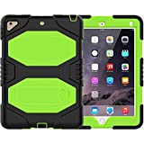 ipad 9.7 case,ipad 9.7 2018/2017 case ipad air 2 case HLHGR Heavy Duty Hard PC+Silicone Hybrid High Impact Full Body Protective Case with Kickstand for iPad 9.7-inch 6th/5th Generation green
