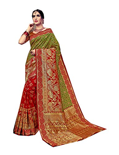 Da Facioun Indian Sarees For Women Wedding Designer Party Wear Traditional Red,Green Saree. by Da Facioun