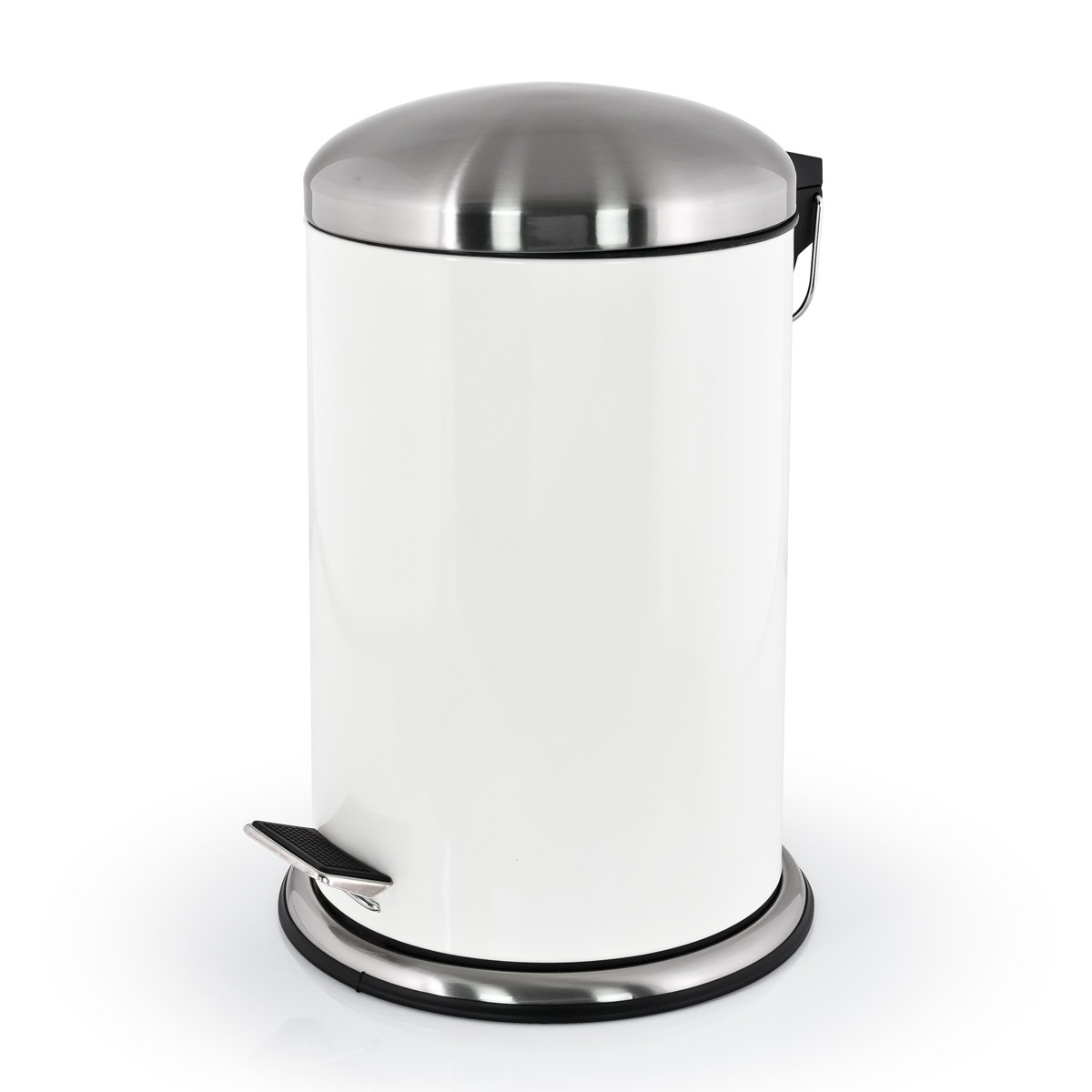 bremermann® 12L Pedal Bin with Soft Close, Anti-Fingerprint, white