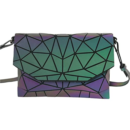 Amazon.com: GOWETION Mujeres Geométrico Luminesk Clutch ...