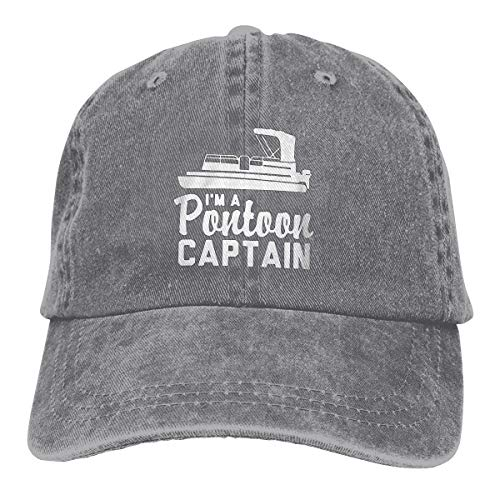 NEWZJCAP -- Limited Edition I'm A Pontoon Captain Sport Unisex Adjustable Hat Gray
