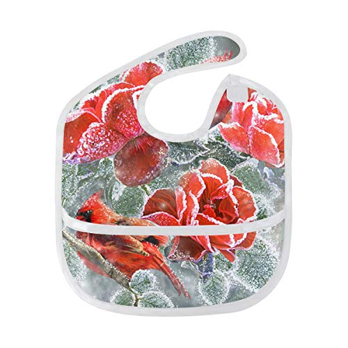 Starter Bib Roses and Cardinals Baby Bib Infant 6-24 Months Teething Bibs ()