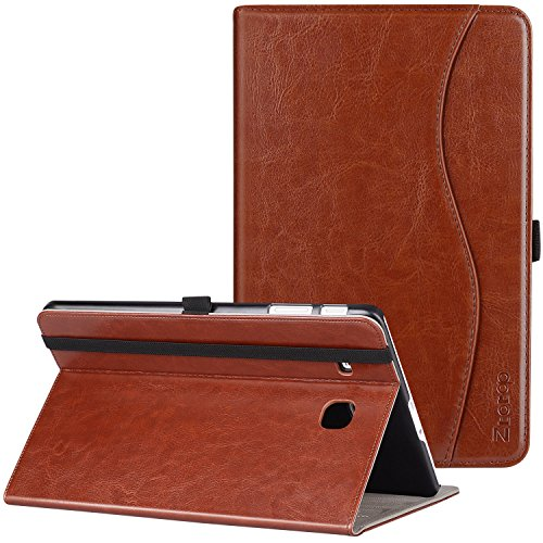 9.6 Case, Ztotop Premium Leather Slim Folding Cover for Samsung Galaxy Tab E Wi-Fi/Tab E Nook 9.6-inch Tablet(SM-T560/T561/T565 & SM-T567V), Brown ()