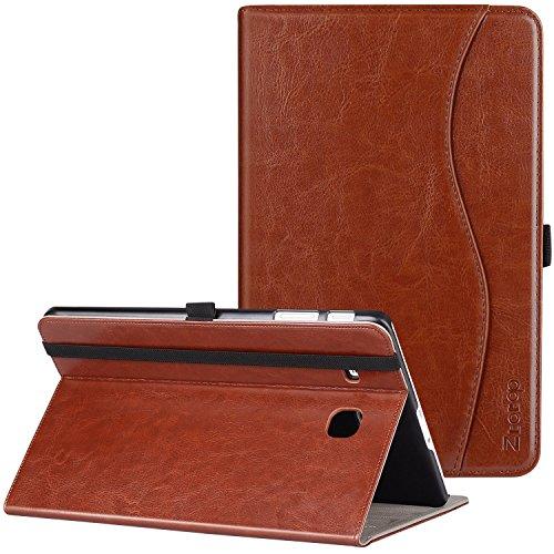 Samsung Galaxy Tab E 9.6 Case, Ztotop Premium Leather Slim Folding Cover for Samsung Galaxy Tab E Wi-Fi / Tab E Nook 9.6-Inch Tablet Verizon 4G LTE Version (SM-T560/T561), Brown