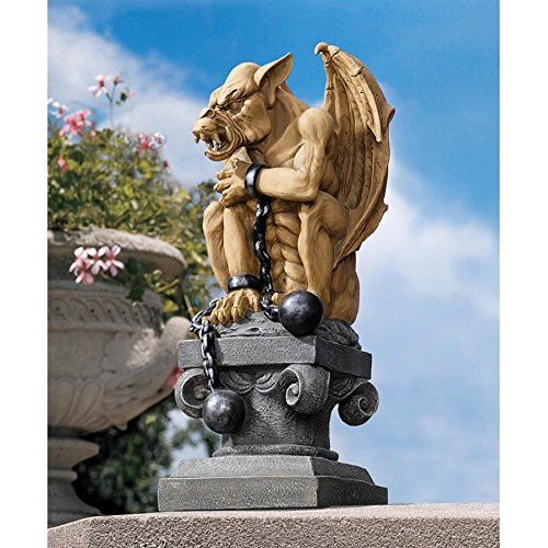 Gargoyle Ball (Design Toscano Ball-And-Chain Dungeon Gargoyle Gothic Statue, 15 Inch, Polyresin, Two Tone Stone)