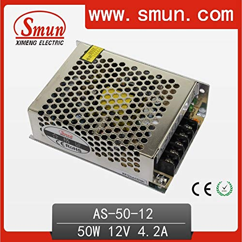 Utini 50W 15V 3.4A Small Volume Single Output Switching Power Supply with CE ROHS 2 Year Warranty