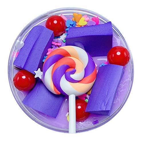 Fluffy Cute Lollipop Candy Cotton Mud Birthday Cake DIY Stamp Decompression Toy Butter Children Kids Fun Gifts