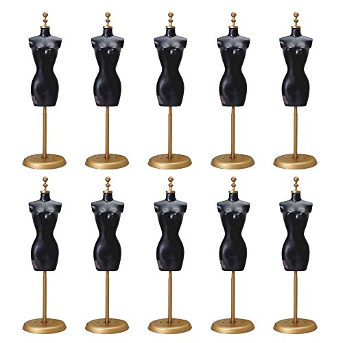 Kangkang@ 10 PCS Doll Dress Cloth Gown Plastic Demountable Display Support Holder Mannequin Model Stand Accessories for Barbie Doll Dress