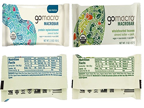 GoMacro Bars / Go Macro Organic Nutrition Meal Bars Variety, 1.9 oz- 2.5 oz (Pack of 20 / 2 Each of 10 Flavors ) with Snack Castle 9'' x 8'' Reusable Snack Pouch with Locking Knob Bundle by GoMacro (Image #3)