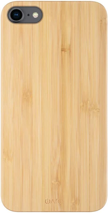 iATO iPhone SE 2020/8 / 7 Wood Case. Real Bamboo iPhone SE2 / 8/7 Case Wood. Minimalistic Classic Wood iPhone 7/8/SE Case 4.7