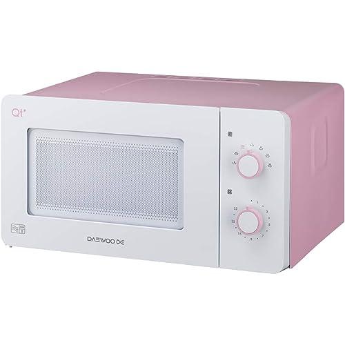 Daewoo QT3 Compact Microwave Oven, 600 Watt, Pastel Pink