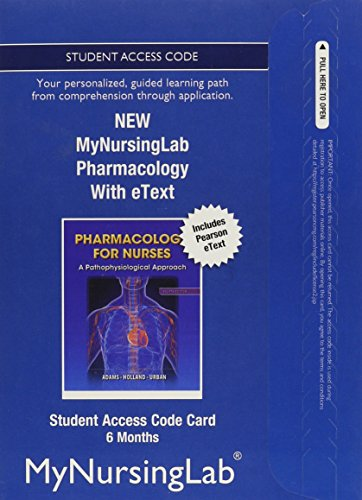 NEW MyNursingLab with Pearson eText -- Access Card -- for Pharmacology for Nurses (6-month access)