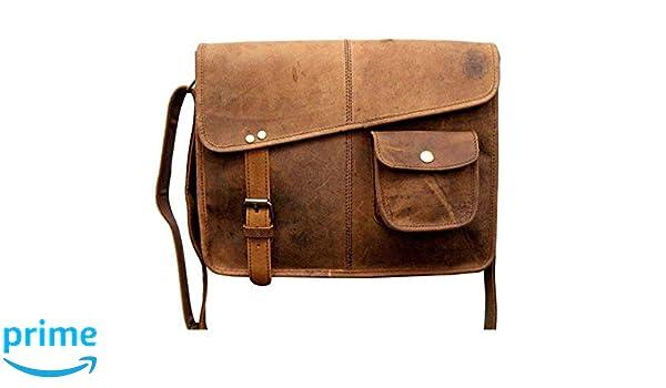 TUZECH Vintage Buffalo Leather Messenger Satchel Laptop Briefcase