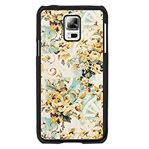 Colorful Vintage Flower Design Samsung Galaxy S5 I9600 Case Cover Hipster Floral Leaves Personalized Hard Plastic Cell Phone Cases for Women