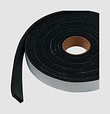 "New Weatherproofing Tape M-D WEATHERSTRIPPING TAPE Blk Rubber Self Adhesive 1/4"" x 3/4"" x 10'"