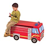 Guidecraft Fire Truck Toy Box
