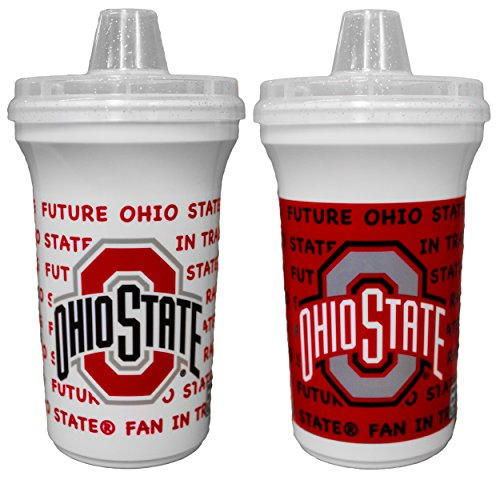 GameDay Novelty NCAA Ohio State Buckyes Sippy Cup Home & Away, 12 oz, 2 Pack -