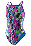 Speedo Women's Printed Propel Back Swimsuit, Geo Playtime, Size 30