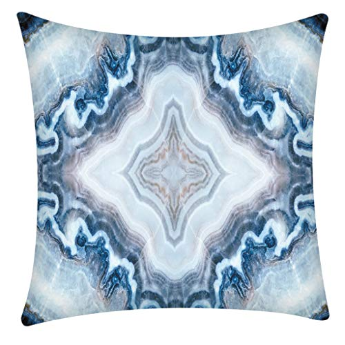 QBQCBB Pillow Case Polyester Fiber Cushion Sofa Car Cushion Cover Home Decoration 45x49cm(D) (Leaf Primrose Five Light)