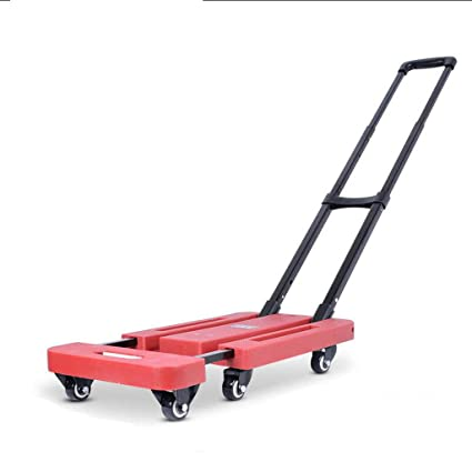 706afb59a84c WLHW Trolley Luggage Cart,Small Cart Pull Truck Fold Portable ...
