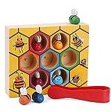 Jeeco Bee Hive Wooden Educational Toys, Preschool Toddler...