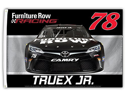 Sided Car Flag (Martin Truex #78 3' x 5' One Sided Car Flag)