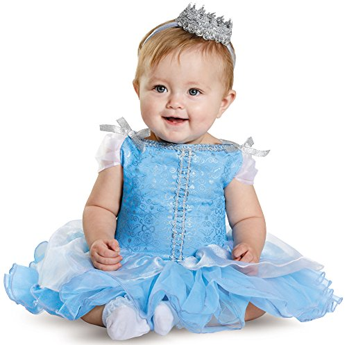 [Disguise Baby Girls' Cinderella Prestige Infant Costume, Blue, 12-18 Months] (12 Month Girl Costume)