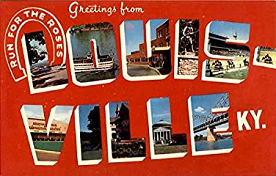 Greetings From Louisville Louisville, Kentucky Original Vintage Postcard