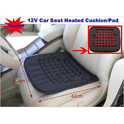 Koolertron Car Heated Seat Cushion Hot Cover Auto 12V Heat Heater Warmer Pad Winter Black Accessories