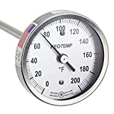 REOTEMP Heavy Duty Compost Thermometer - Fahrenheit (24 Inch Stem), Made in The USA