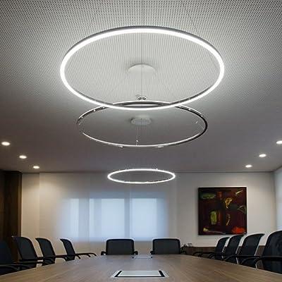 LightInTheBox® Pendant Light Modern Design Living LED Ring Home Ceiling Light Fixture Flush Mount, Pendant Light Chandeliers Lighting for Living Room, Study Room/Office, Dining Room, Bedroom