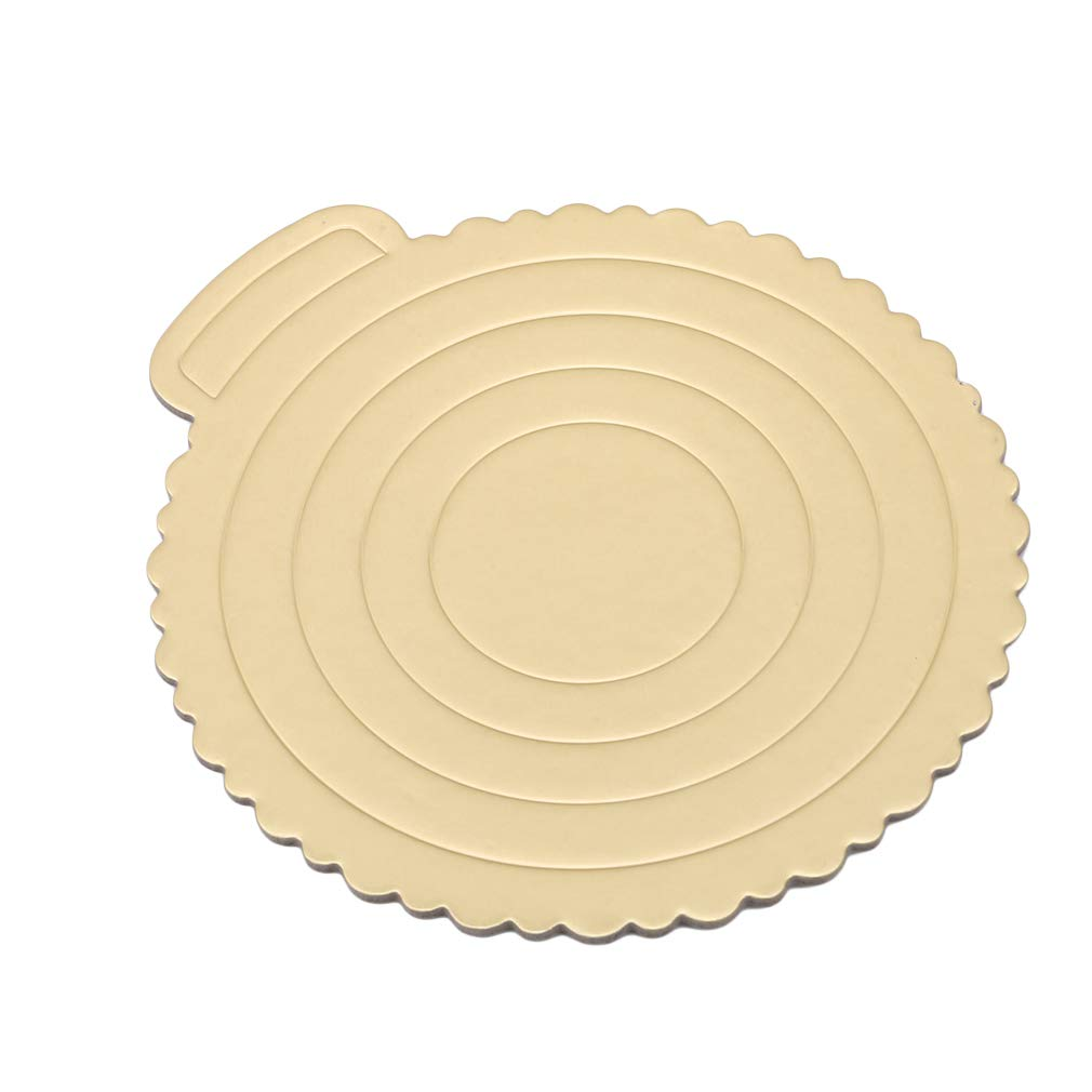 Meoliny Round Cake Boards Portable Cardboard Scalloped Cake Circle Base for Cook,10.83 9.84inch