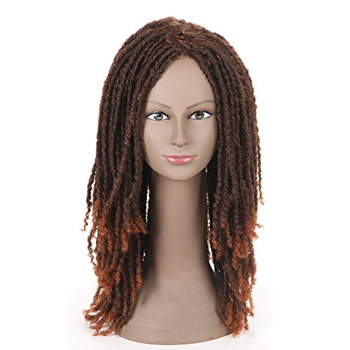 """Search : SLEEK 21"""" Long Dreadlock Wig (COPPER RED MIXED & MEDIUM BROWN, Synthetic Fiber) - Twist Wigs for Black Women - Synthetic Dreadlock Wig Long Synthetic Wigs - African American Wigs Beauty Personal Care"""
